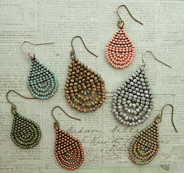 Linda's Crafty Inspirations: Teardrop Loop Earrings Samples