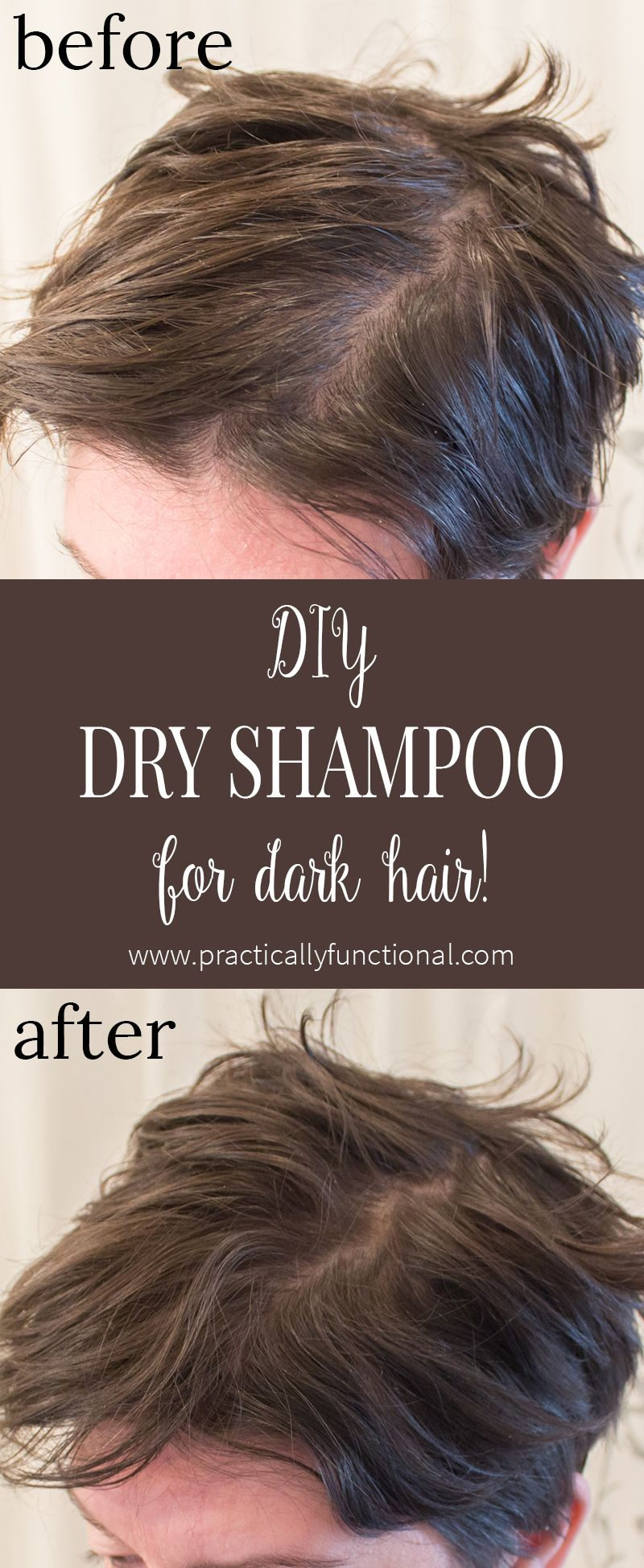 diy dry shampoo for dark hair   practically functional   diy