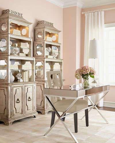 John Richard Collection Lexington Mirrored Desk Office Furniture Paa Etagere