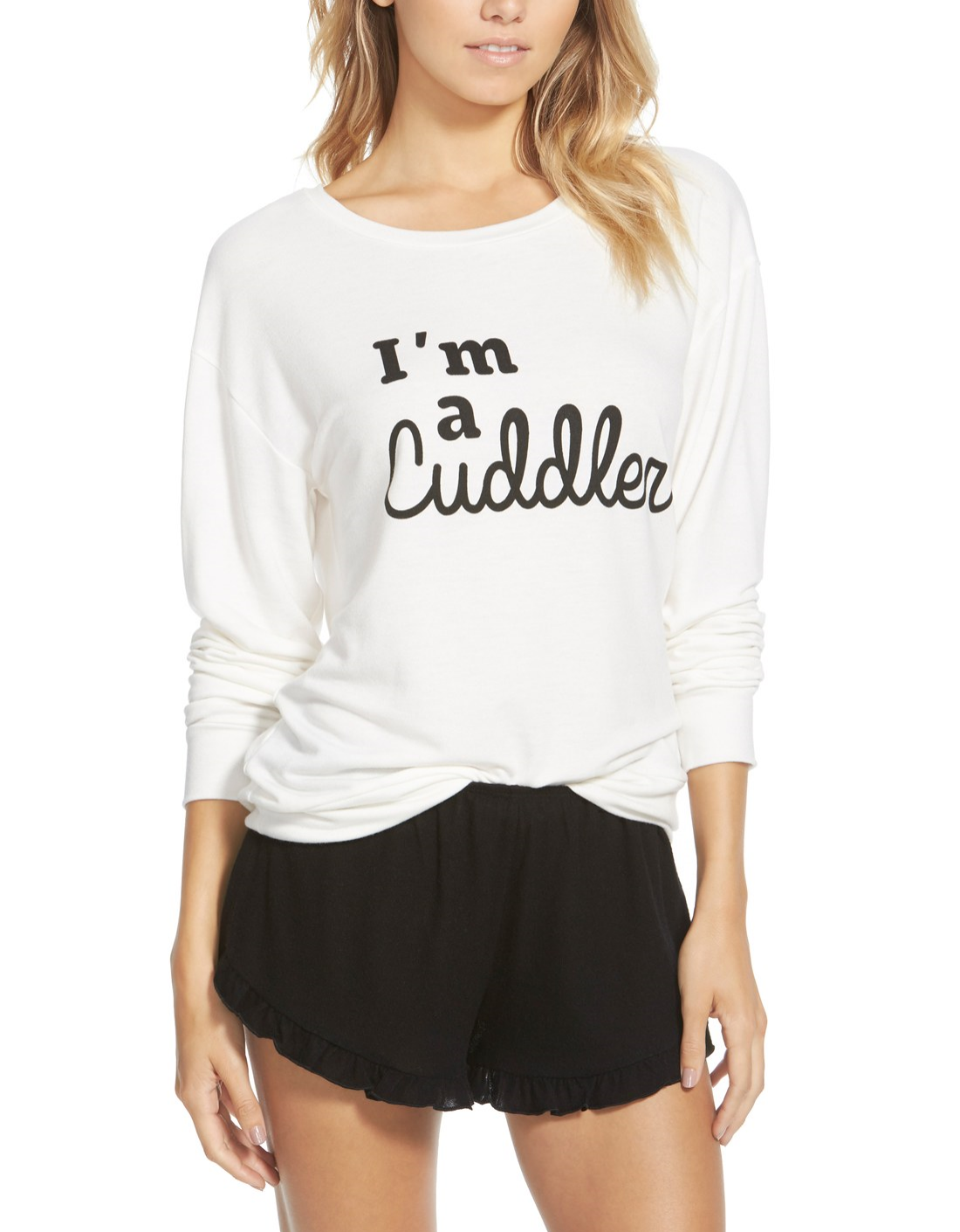 74bd2a59a09 Crushing on this cozy long-sleeved tee for lounging around the house ...