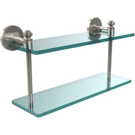 Southbeach Collection 16 inch 2-Tiered Glass Shelf (Build to Order