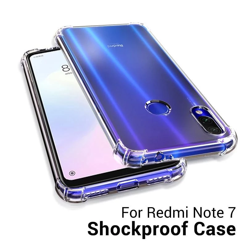For Xiaomi Redmi Note 7 8 Case Cover Silicone Shockproof Note 7 Phone Case Cover Mobile Cases