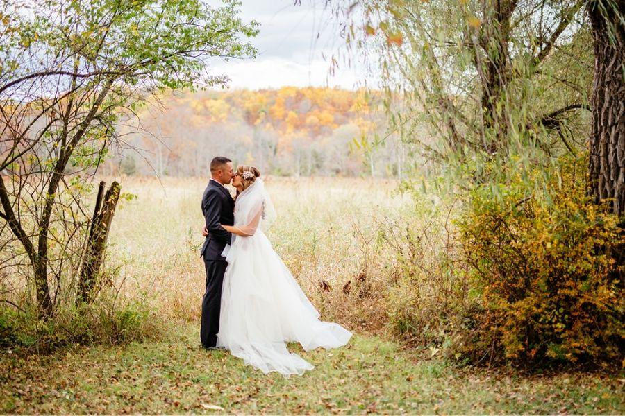 Fall Outdoor Wedding Andover Nj Crossedkeysinn