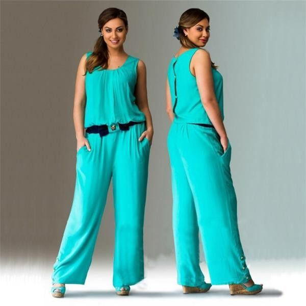 RD Bougie- Belted Wide Leg Jumpsuit with Button Detail