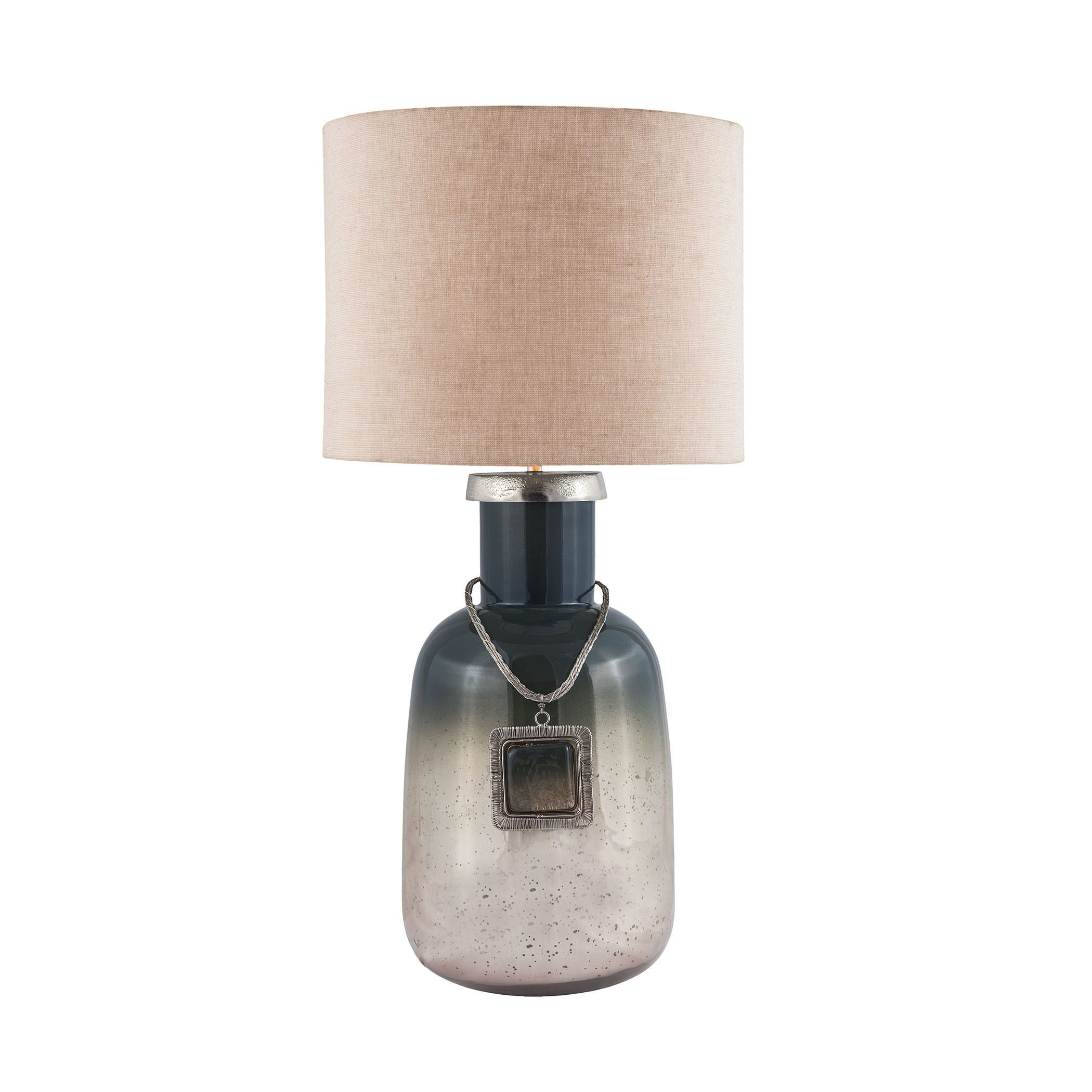 Dimond lighting grey glass and metal table lamp iceland mercury