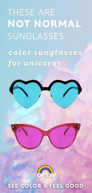 178c18497ae0 These are not normal sunglasses. RainbowOPTX come in 10 different colors to  make the world b…