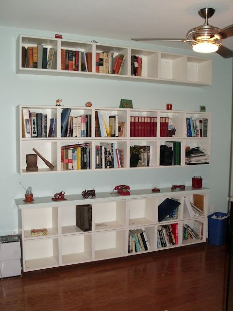 Horizontal Floating Billy Bookshelves For Small Spaces Glass