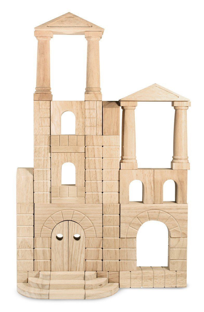Melissa Doug Architectural Unit Block Set Toys