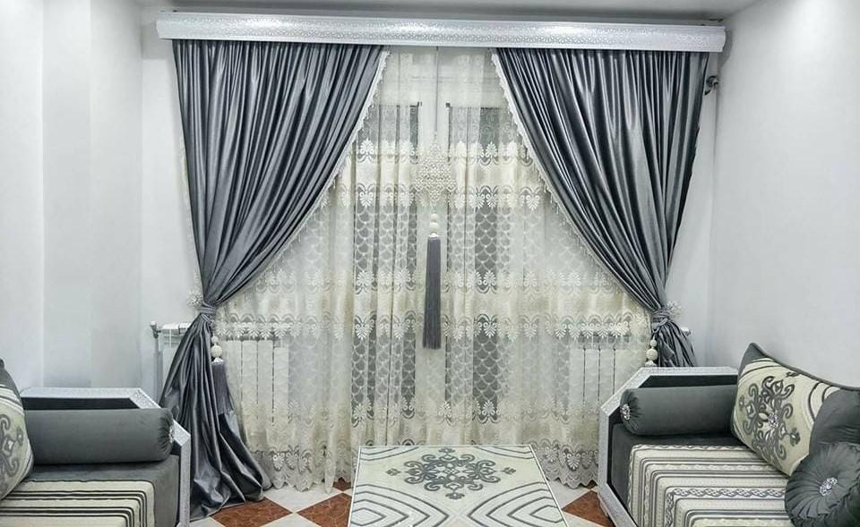 epingle sur rideaux salon marocain