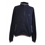 Kickers Men's Cardigan Zip Up Cable Knit Fabric Retro Style with the logo to the right side stitched in with front side pockets very trendy old school vintage 90's styled out of England. www.puckerclothinguk.com