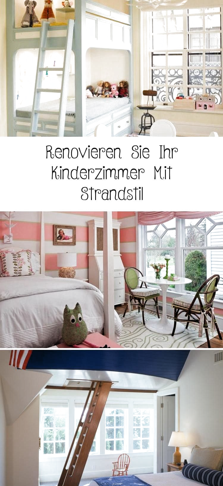 Renovate your child's room with beach style #children's room #renovate #stran ...   - Renovieren   #Renovierenvorhernachher  #Renovierenideen