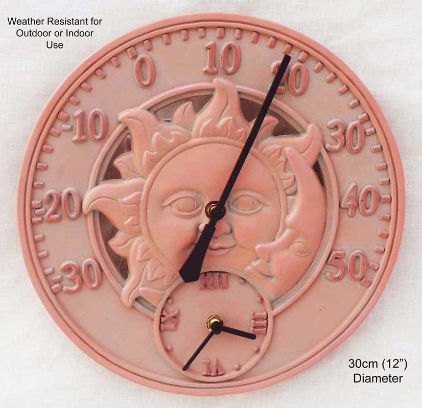 T Wm13340terracottathermclock 1 Copy Jpg 826 799 Pixels Outdoor Clock Clock 10 Things