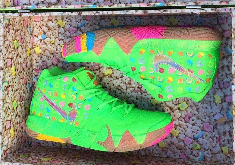 Nike Kyrie 4 Green Lucky Charms Photos