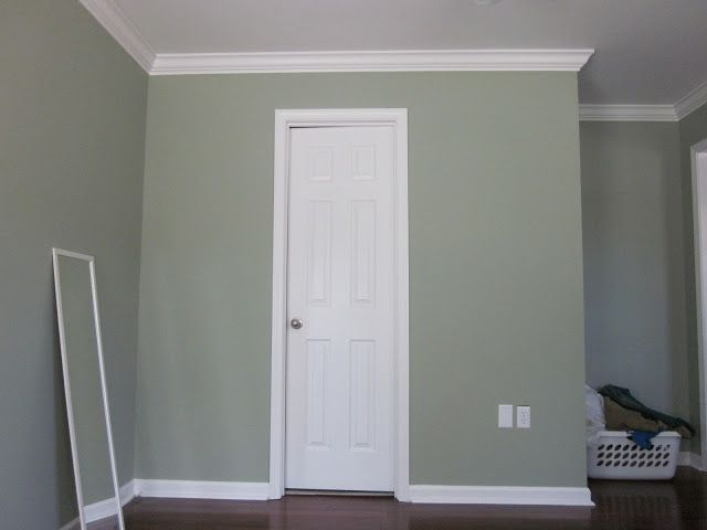 The Murphy S The Master Bedroom Before And Progress Family Room Paint Sage Green Walls Sage Living Room