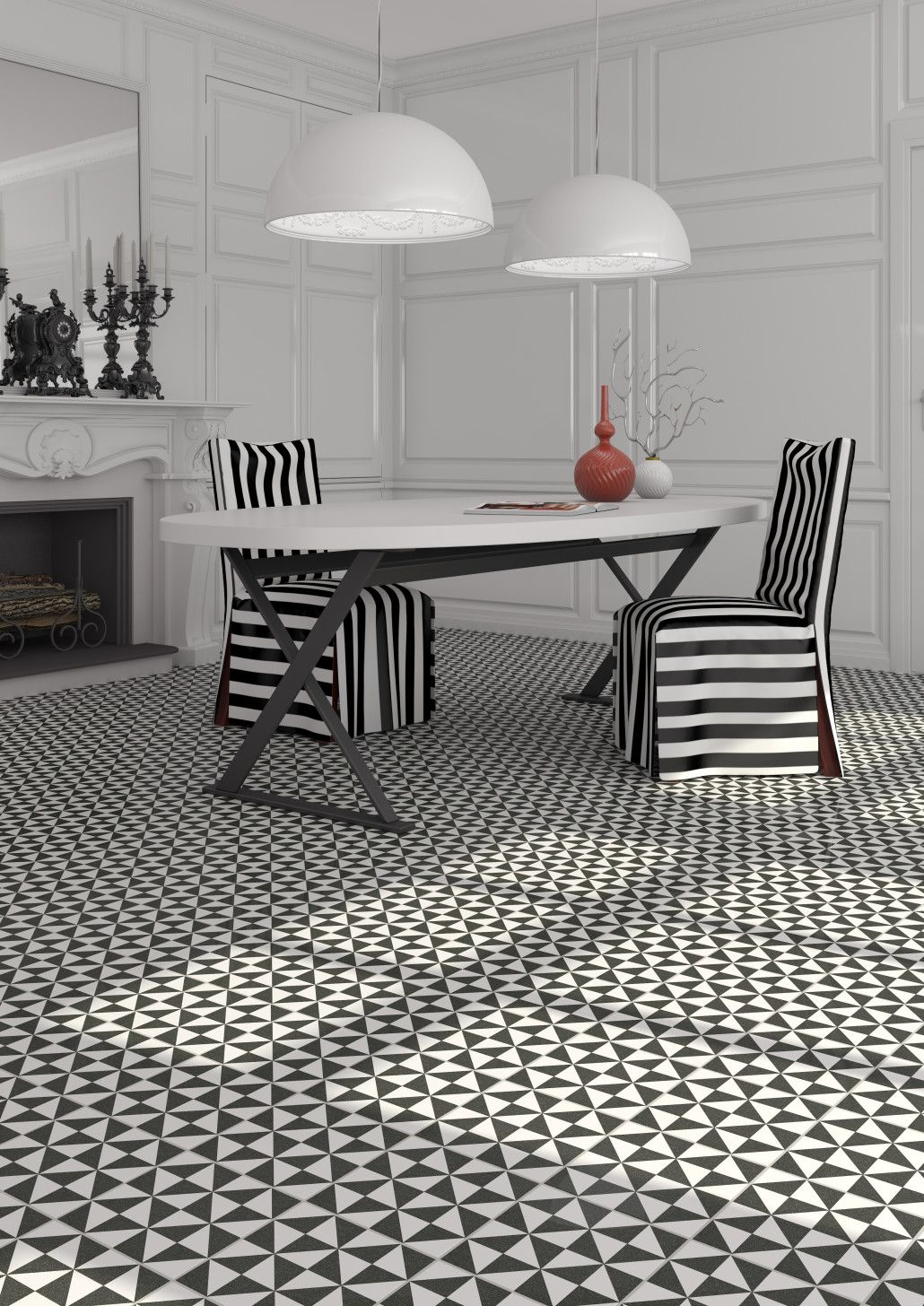 Les motifs carreaux de ciment font leur grand retour for Carrelage grand carreau