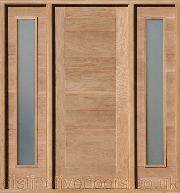 Modica Satin Double Glazed Oak Elegant Entrance Door Set Elegant