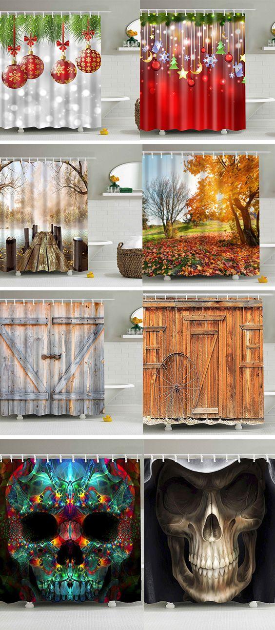 home decor idea for bathroom:shower curtains | Rustic ...