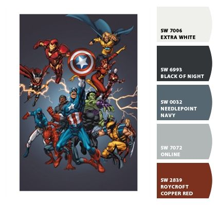 Avengers 2005 Cover Paint Colors From Chip It By