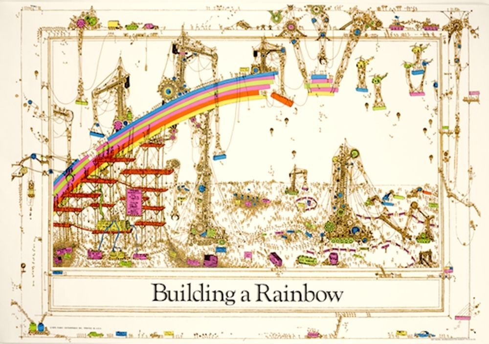 Building A Rainbow poster print 24x36 new Art art and Rainbows - new certificate of authenticity painting