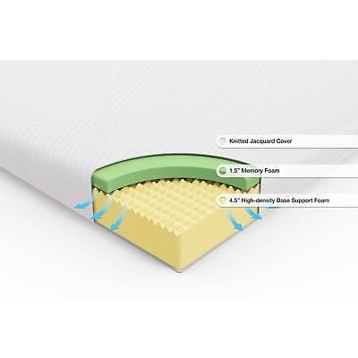 memory foam mattress 6 inch topper bedroom sleeping pad comfort twin xl size