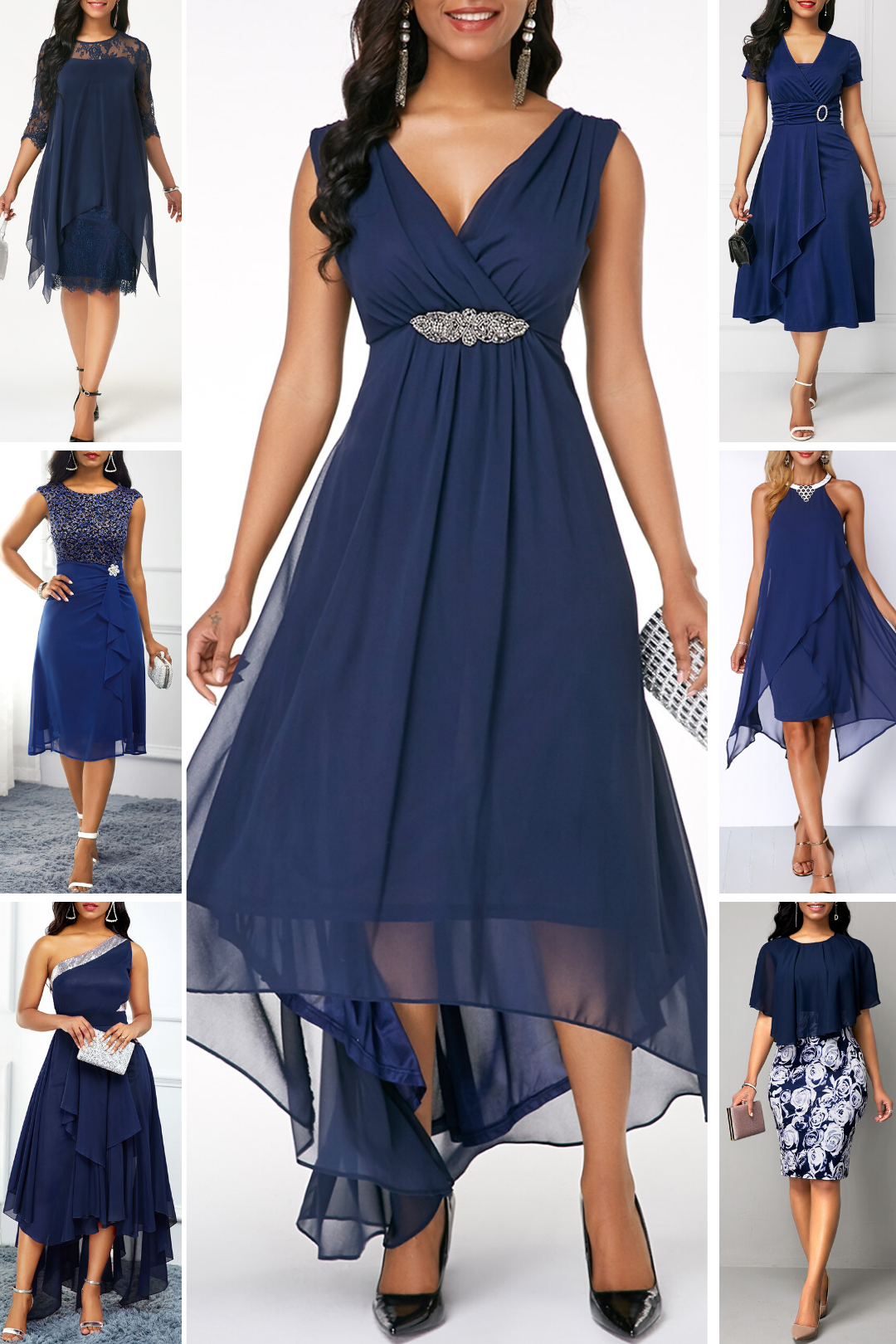 Navy Blue Dresses To Date Night Party 2020 In 2020 Date Night Outfit Curvy Beautiful Dresses Dresses