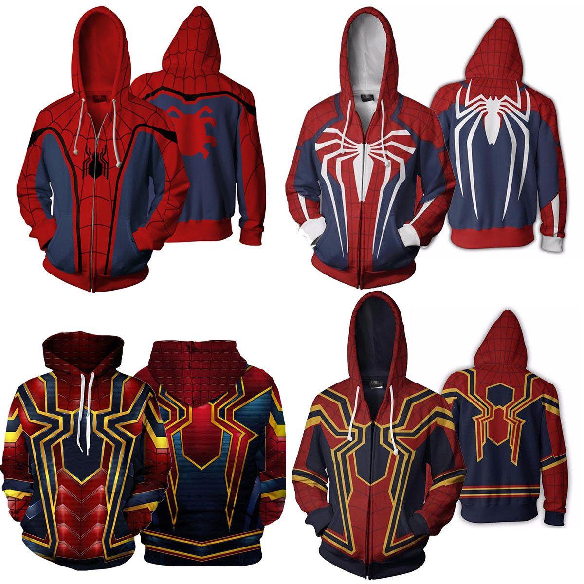 c4aae866 19.88   2018 Avengers Infinity War Spiderman Hoodie Iron spider-man Coat  Jacket New ❤ #avengers #infinity #spiderman #hoodie #spider #jacket #Pants # men ...