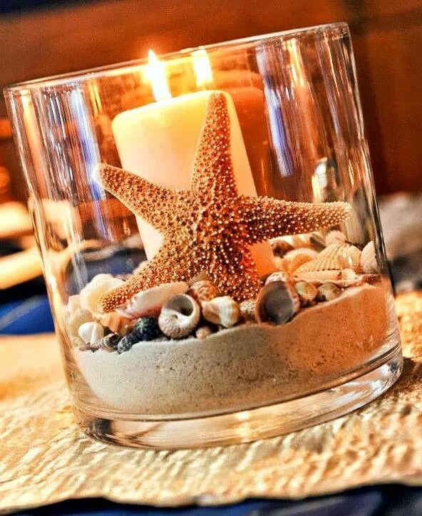 Great #summer #candle #display that's easy to set up!