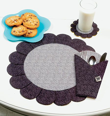 K0123, Placemat, Coaster and Silverware Case | Manteles | Pinterest ...