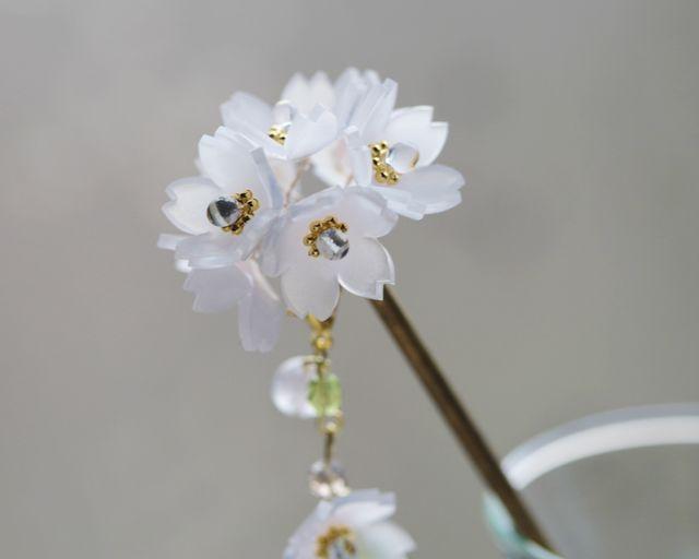 桜の一房簪(かんざし)