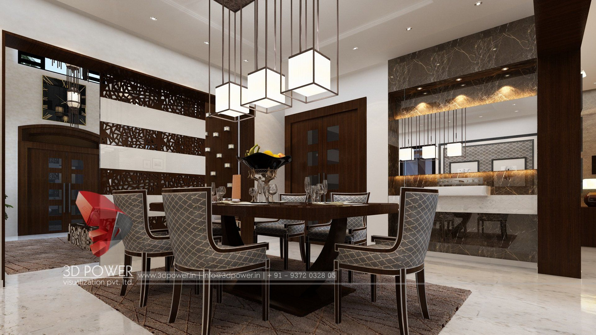 3d Visualization Of An Interior Of Dining Room Interior Design