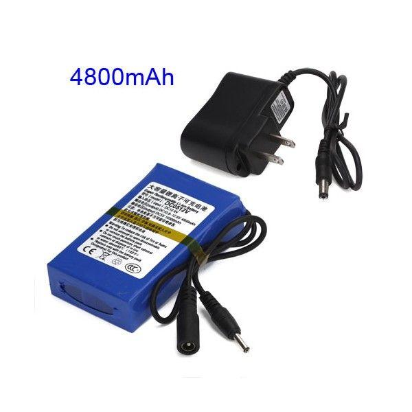 Bateria de Litio Recargable de 4800mAh ideal para alimentar energia a dispositivos electronicos con alimentacion o entrada a 12 Voltios http://www.cargadorsolaronline.com/baterias-recargables-litio/180-bateria-recargable-4800mah-12v.html