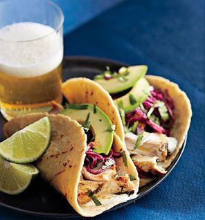 Tequila-Lime Mahimahi Tacos: Recipes: Self.com