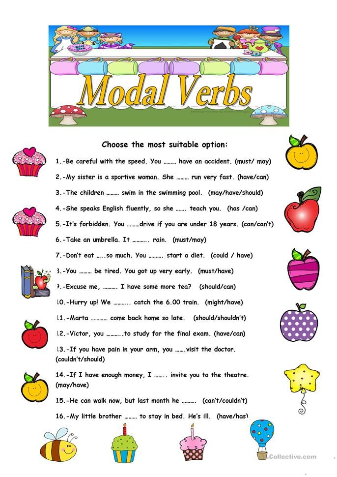Modal Verbs English Esl Worksheets For Distance Learning And Physical Classrooms English Grammar Worksheets Learn English Words Verb