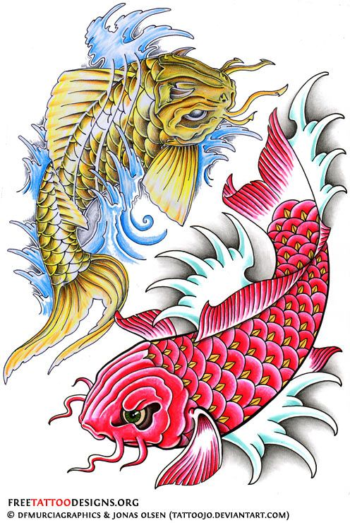 40 Koi Fish Tattoos | Japanese And Chinese Designs | Koi ...