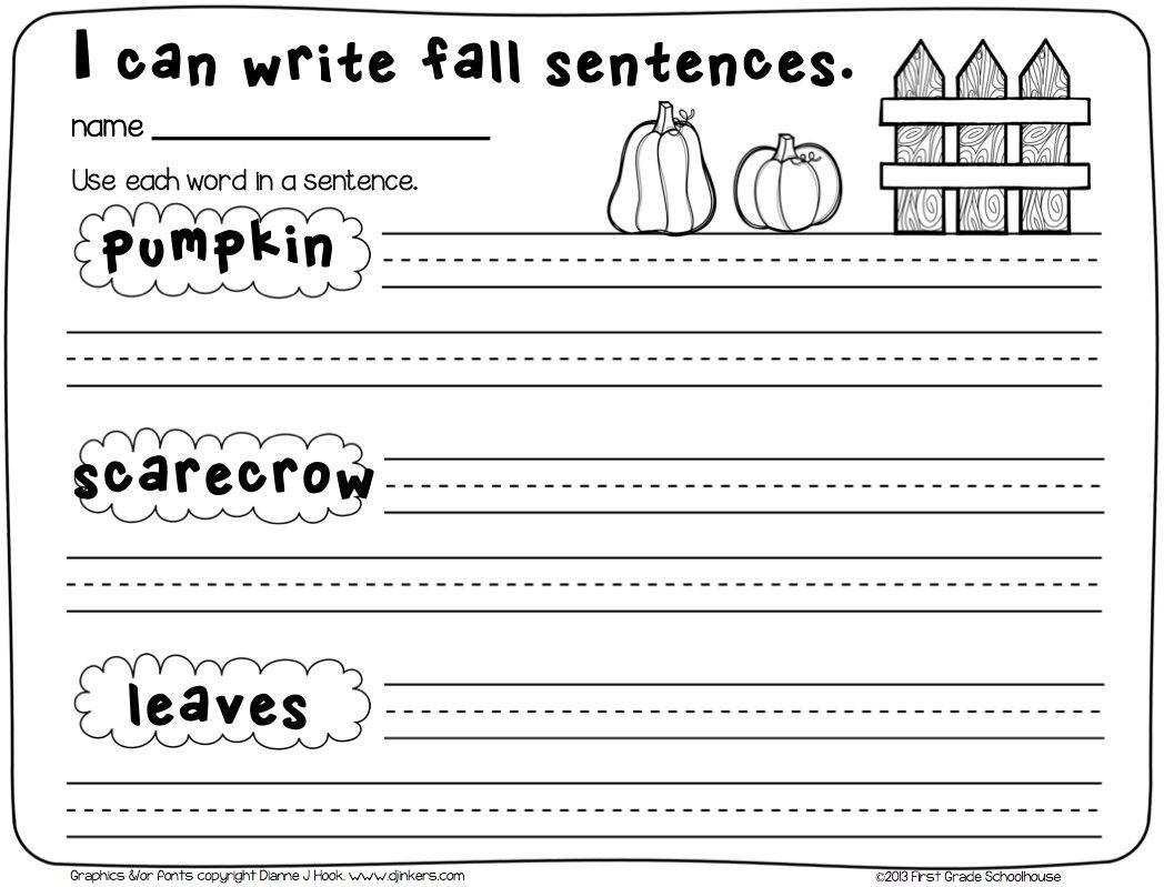 Fall Writing For Firsties First Grade Writing Fall Writing Teaching Writing [ 799 x 1048 Pixel ]