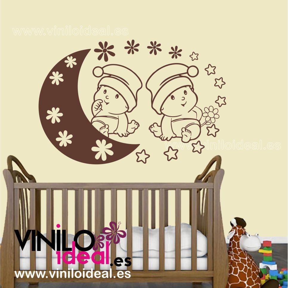 vinilo decorativo infantil, bebes mellizos, vinilos mellizos ...