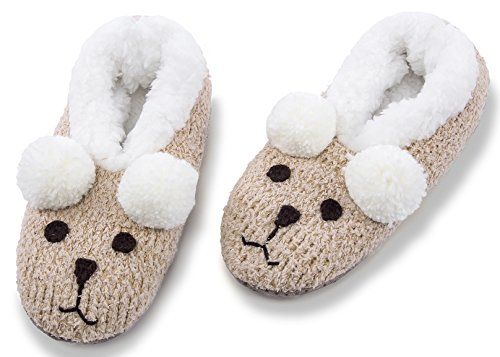 82e029f3d MaaMgic Womens Fuzzy Christmas Animal House Slippers Ladies Cute Bedroom  Indoor Knit Winter Slippers