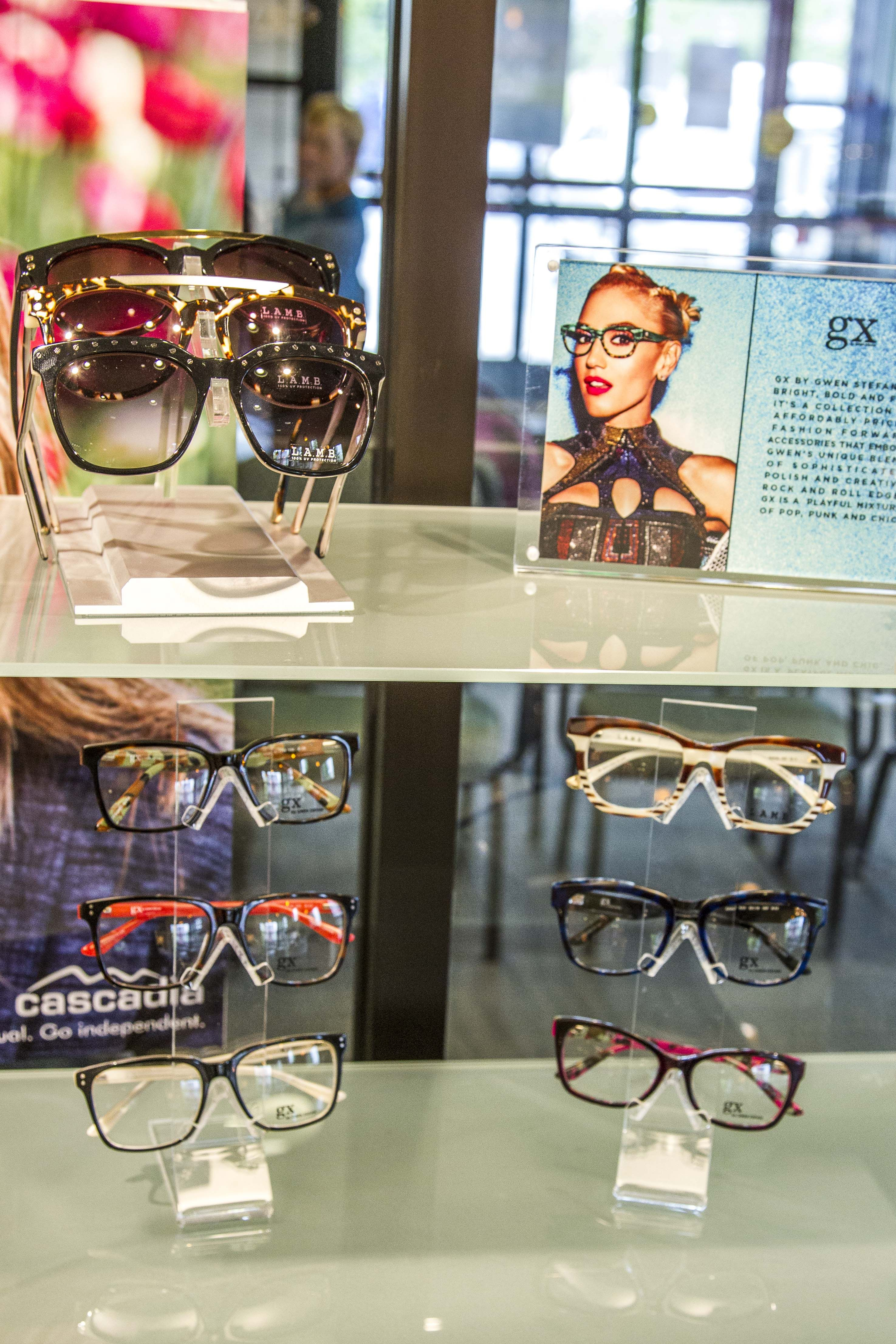 520492cf4e2e Cascadia Eye's online eyewear store (and our Mt. Vernon optical shop) now  features Gwen Stefani's frames and sunglasses - L.A.M.B. and GX brands!