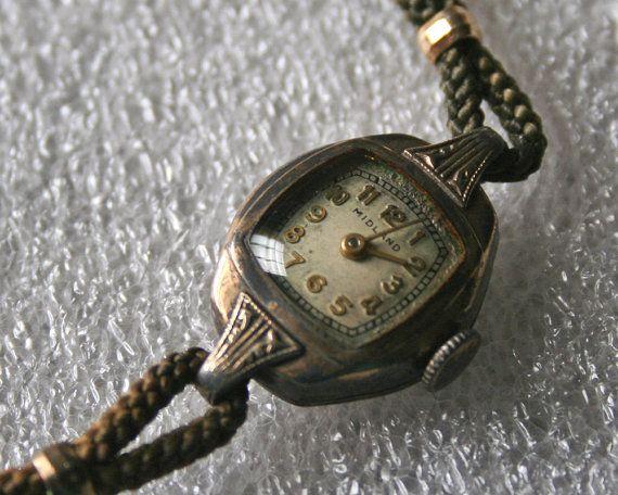 Midland Antique Gold Watch Ladies 1920s by ThreeChicksVIntage, $15.00