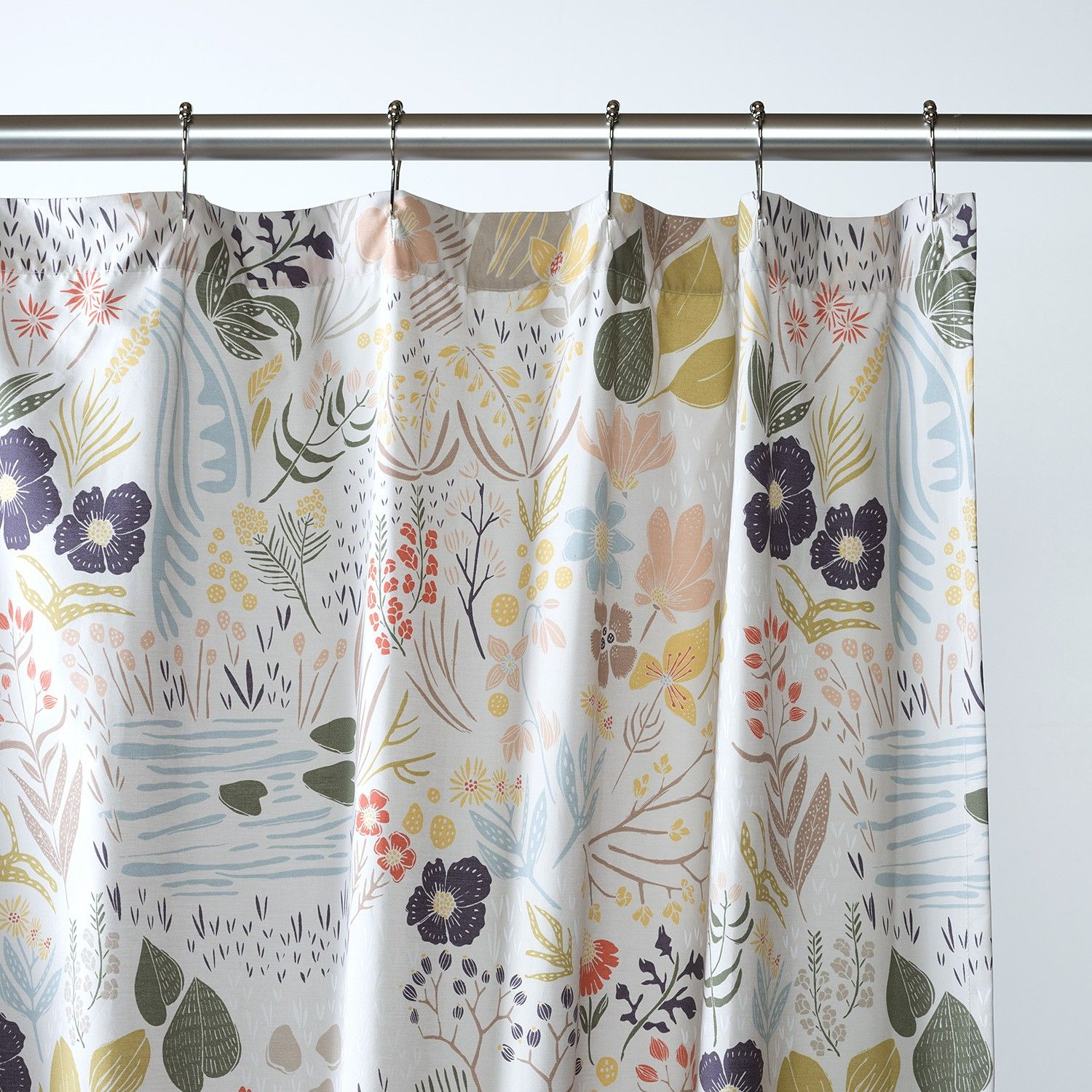 Woodland meadow shower curtain Nature inspired shower curtains