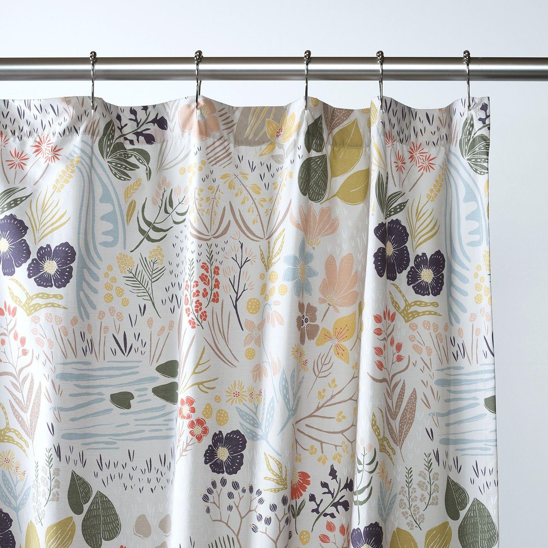 woodland meadow shower curtain