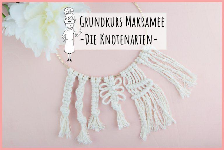 Photo of Basic course macrame knotting – free, detailed instructions Mrs. Friemel