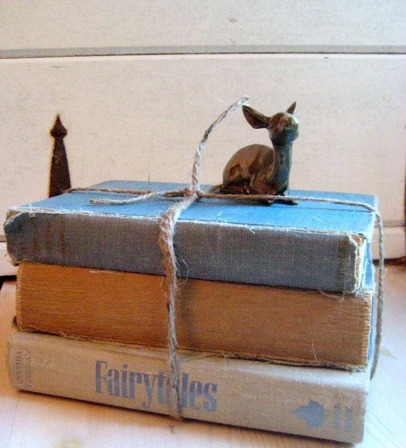 3 book collectin of shabby style vintage books by jensdreamvintage, $24.50