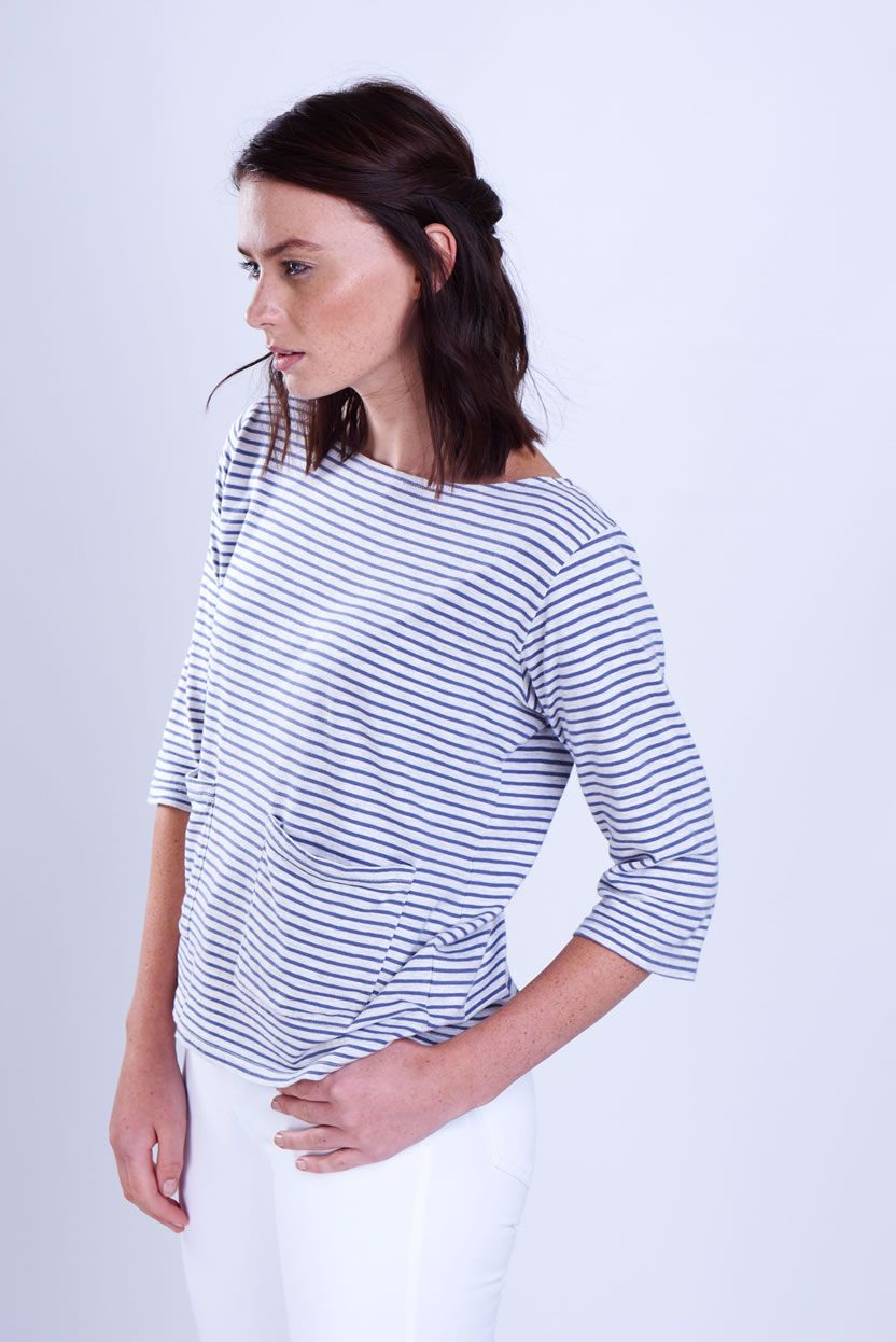 Breton Striped T by BIBICO