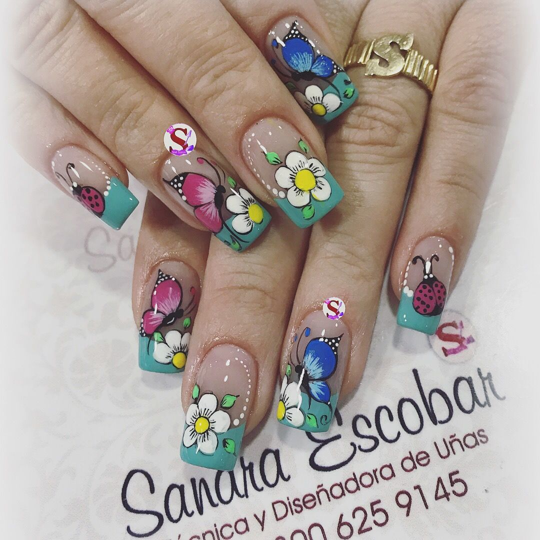 Pin by le thi on mau ve | Pinterest | Manicure and Flower nails