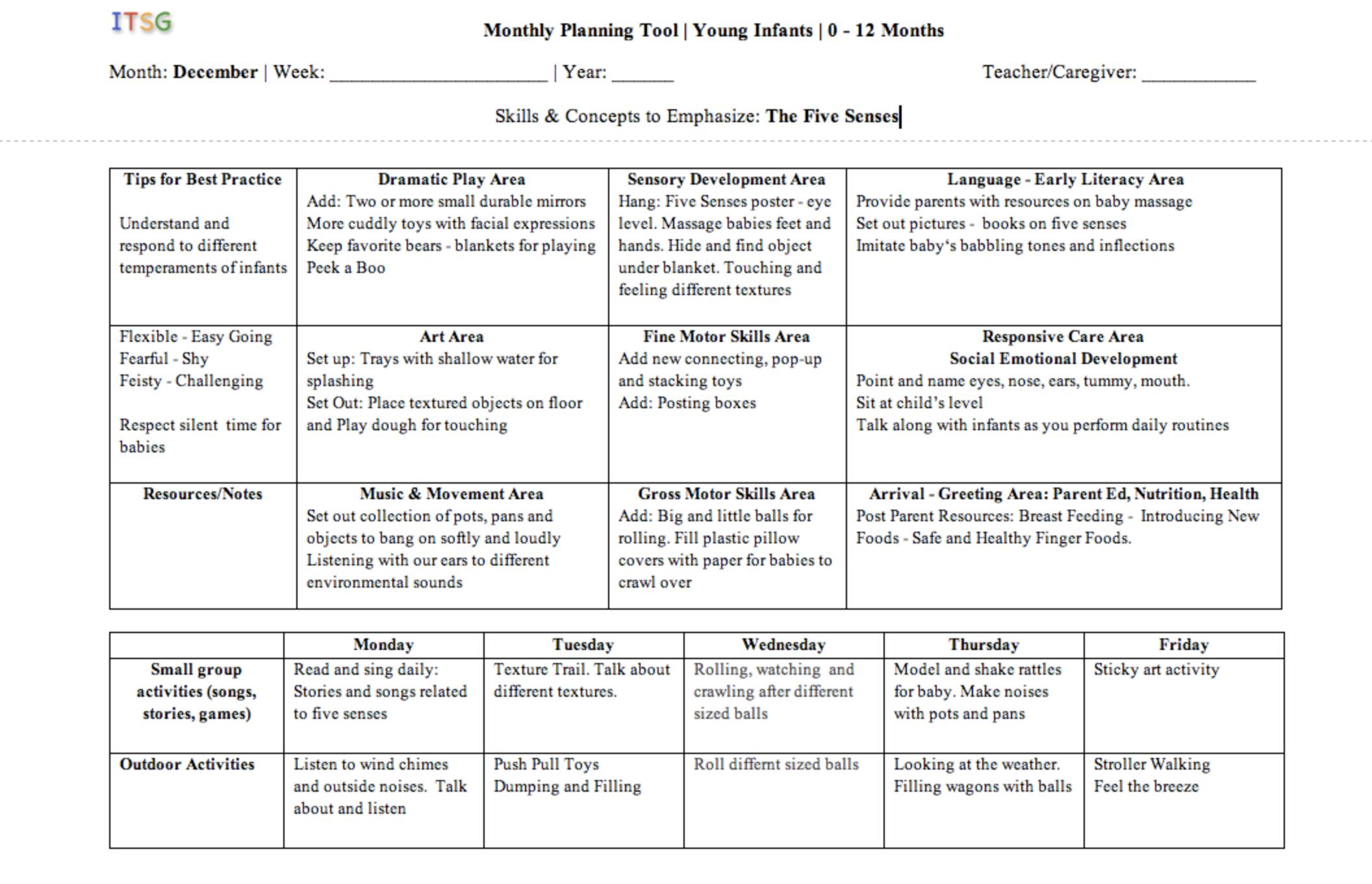 Ages 0-12 Months. Lesson Plans (con imgenes) | Infantes ...