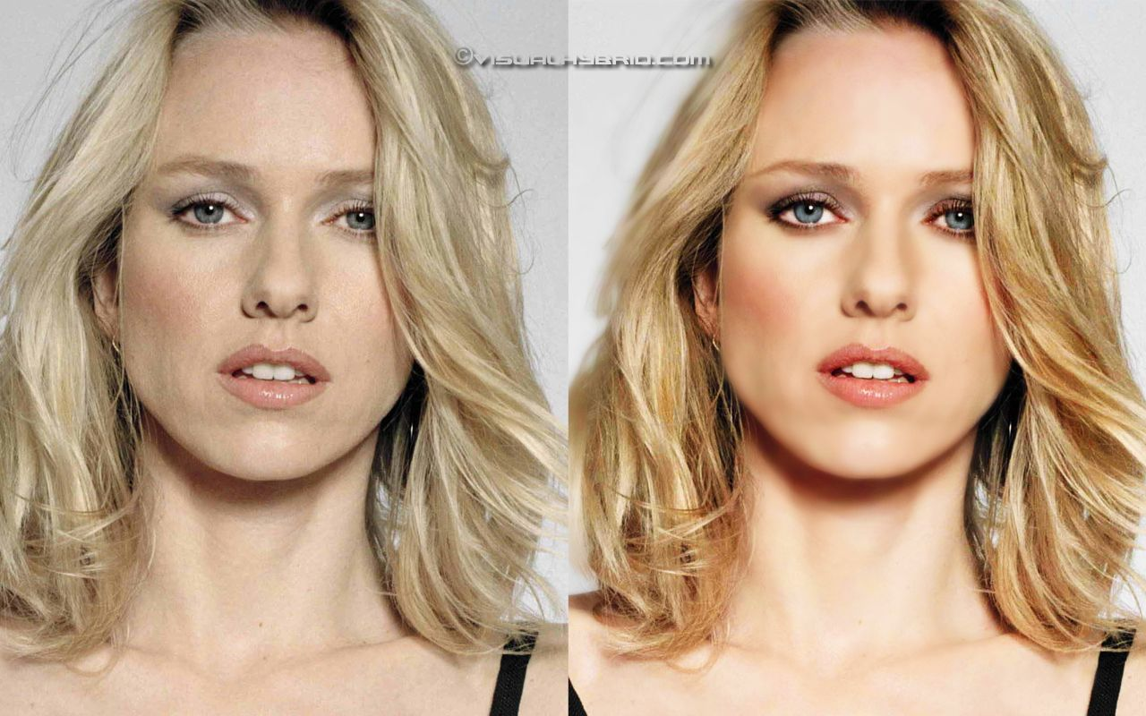 55 shocking images of celebrities before and after photoshop lady - This Is A Image Retouched By Photoshop This Program Is A Useful Tool Used By A Lot Of People In Sectors Like Advertising Magazines Photography