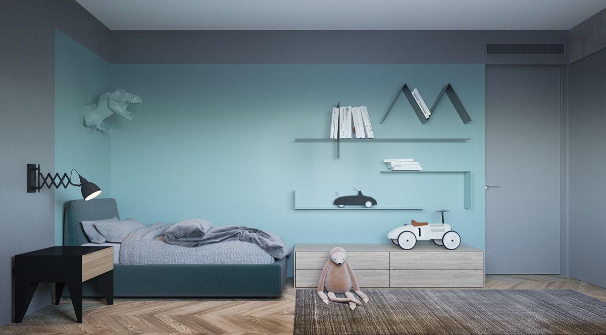 Stijlvolle Speeltafel Kinderkamer : Stoere groen en blauwe jongenskamer interieurs pinterest