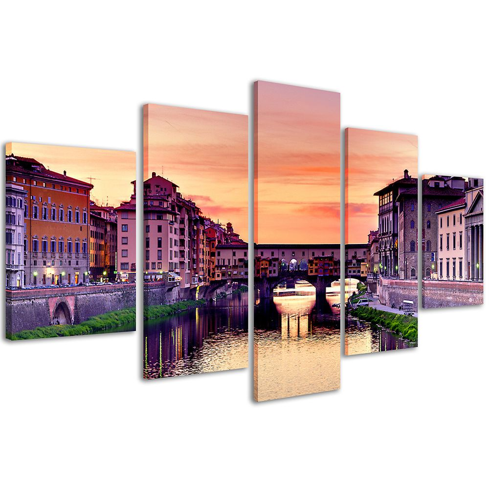 Quadri Moderni 200 x 90 cm Stampe su Tela XXL Quadro Firenze Ponte ...