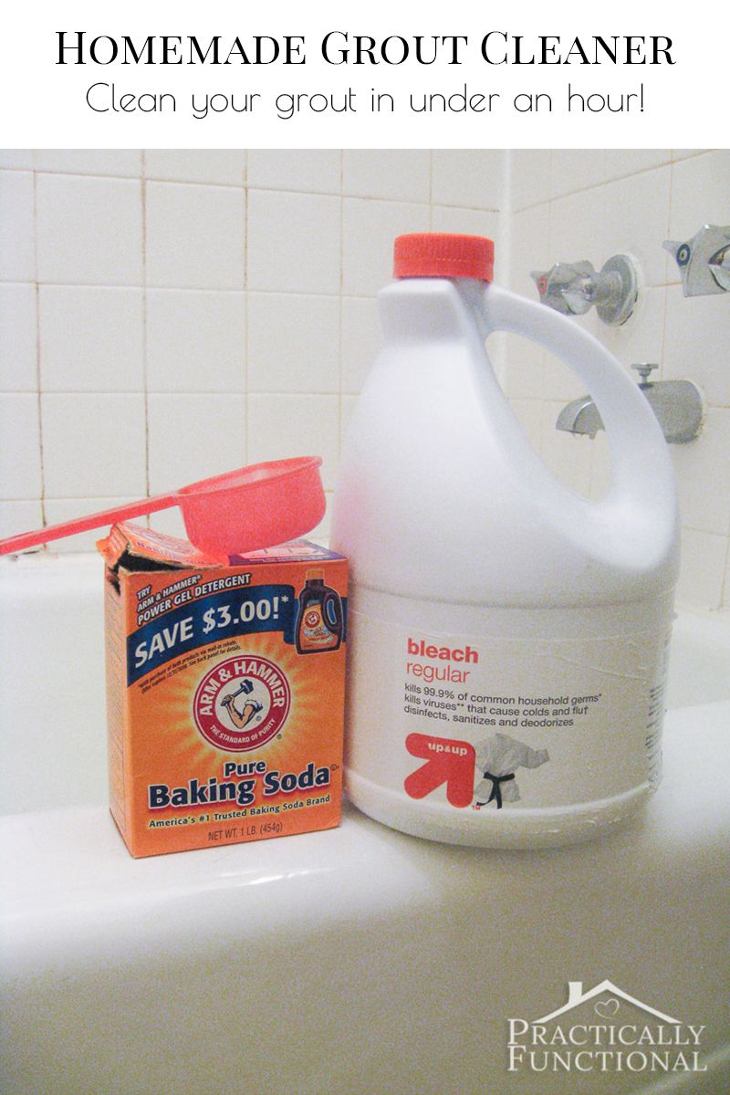 This Homemade Grout Cleaner Is Such A Great Way To Clean Tile Grout; All You